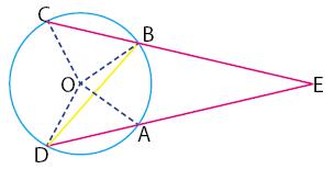 bukti rumus sudut antara dua tali busur berpotongan di luar lingkaran