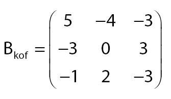 Matriks Kofakor B
