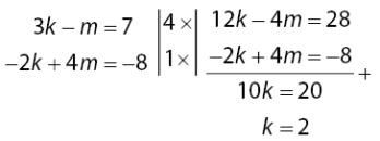 Proses Substitusi Untuk Mencari nilai vektor k