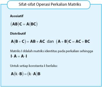 Operasi Hitung pada Matriks dan Sifat-sifatnya