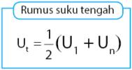 Rumus suku tengah barisan aritmetika