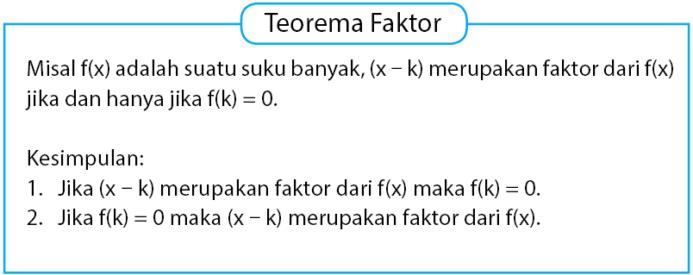 Teorema Faktor Pada Suku Banyak
