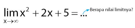 cara mengerjakan limiti tak hingga bentuk polinomial