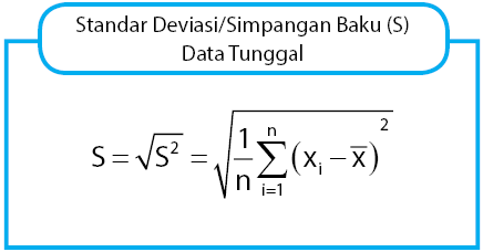 rumus simpangan baku data tunggal