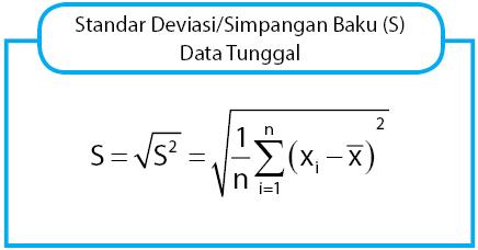rumus simpangan baku data tunggal