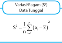 rumus variasi data tunggal