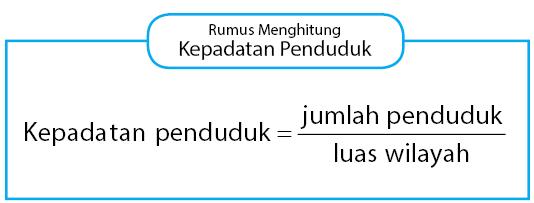 Cara menghitung kepadatan penduduk