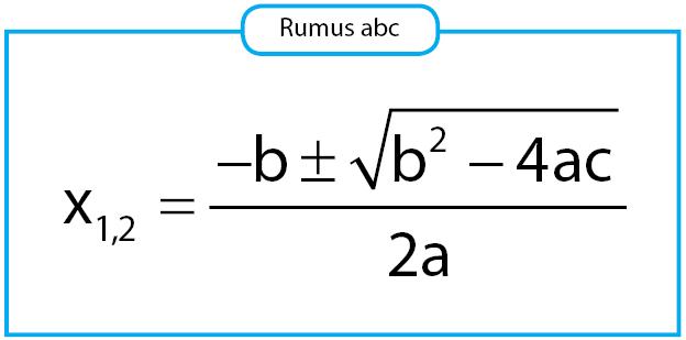 rumus abc untuk menentukan akar persamaan kuadrat