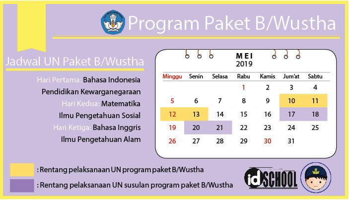 Jadwal UN 2019 Paket B