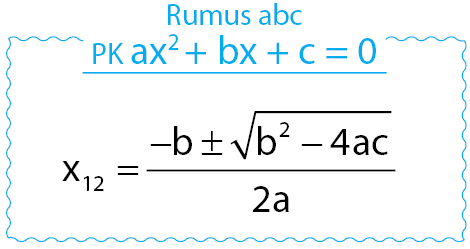 Rumus abc untuk persamaan kuadrat