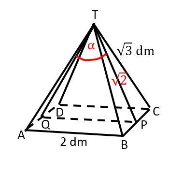 Pembahasan soal mencari besar sudut pada limas segi empat T.ABCD