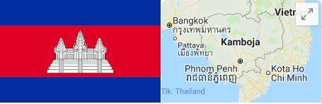 Bendera Kamboja dan lokasinya