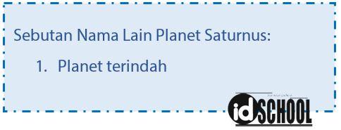 Nama Lain Planet Saturnus