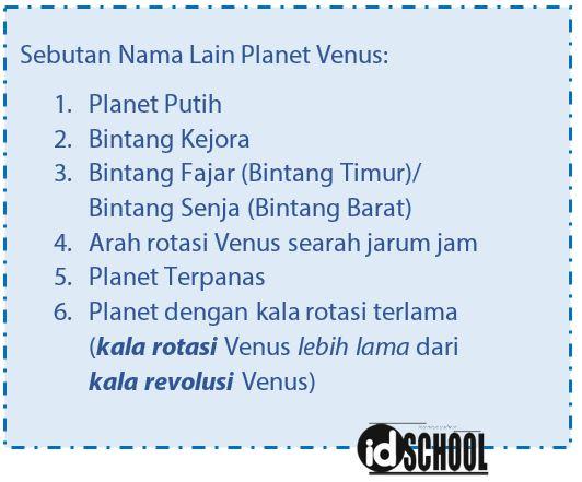 Nama Lain Planet Venus