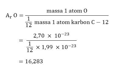 Cara Menghitung Massa Atom Relatif