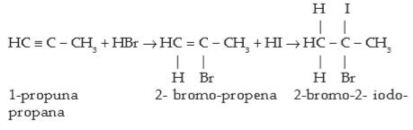 Sifat Senyawa Alkuna - Adisi Senyawa Asam Halida