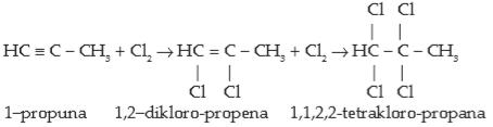 Sifat Senyawa Alkuna - Adisi Halogen