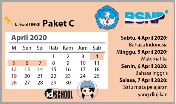 Jadwal UNBK Paket C 2020