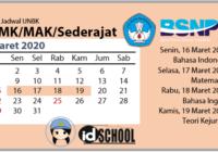 Jadwal UNBK SMK/MAK 2020