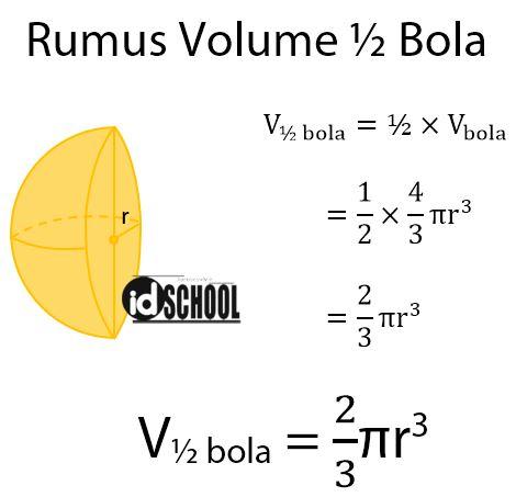 Rumus Volume Setengah Bola Pejal