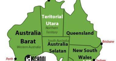 Daftar 6 Negara Bagian Australia dan 2 Teritorial Australia.