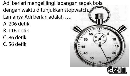 Contoh Soal Cara Membaca Stopwatch