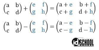 Penjumlahan dan Pengurangan Matriks