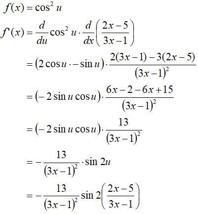 Pembahasan Soal Turunan Fungsi Trigonometri