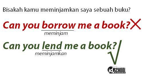 Contoh Penggunaan Lend dan Borrow yang Benar dalam Kalimat
