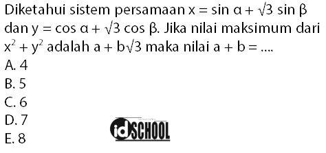 Soal Nilai Minimum dan Maksimum Fungsi Trigonometri