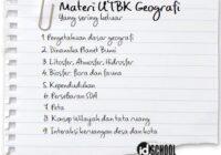 Materi UTBK Geografi
