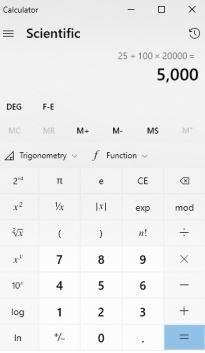 Cara Menghitung Persen dari Jumlah Total Dengan Alat Bantu Hitung Kalkulator