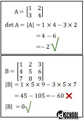 Determinan Matriks dengan Ukuran 2 x 2 dan 3 x 3