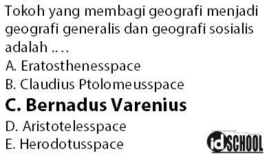 Tokoh Geografi yang Membagi Ilmu Geografi Menjadi Dua Bagian