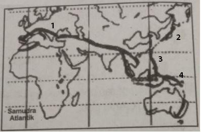 Contoh Soal Sirkum Mediterania dan Pasifik