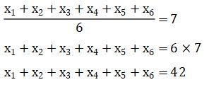 Rata-Rata Enam Bilangan Asli