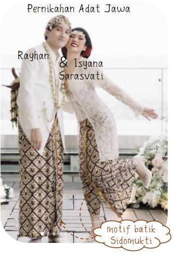 Contoh Penggunaan Motif Batik pada Pernikahan Adat Jawa