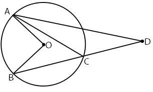 Contoh Soal Sudut Antara Dua Tali Busur yang Berpotongan di Luar Lingkaran