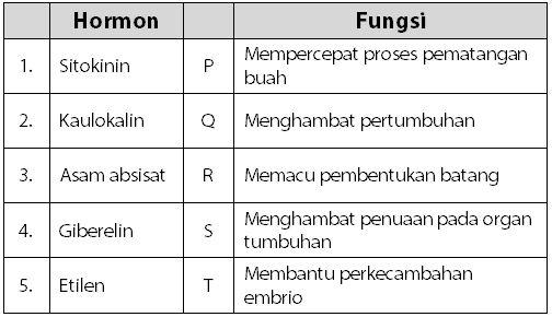 Kumpulan Soal Hormon Tumbuhan dan Fungsinya