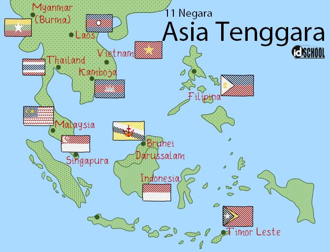 Daftar 11 Negara Asia Tenggara